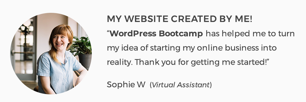WordPress Bootcamp with AnitaM