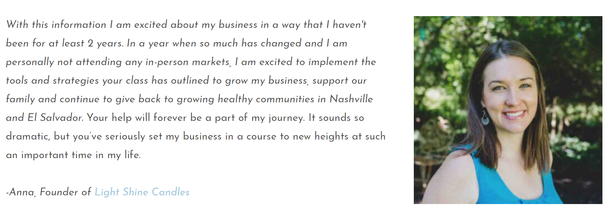 small business owner testimony