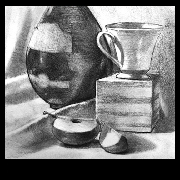 still life drawing by Artist Kevin McCain