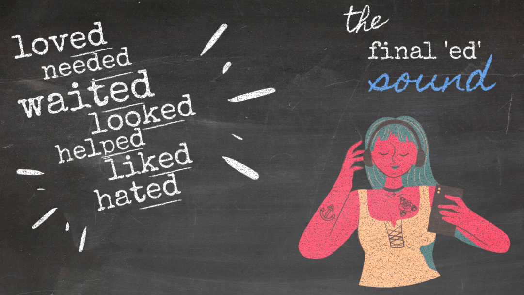 Pronounce the final 'ed' sound well, Regular verbs in past tense, Simplifying English, ESL