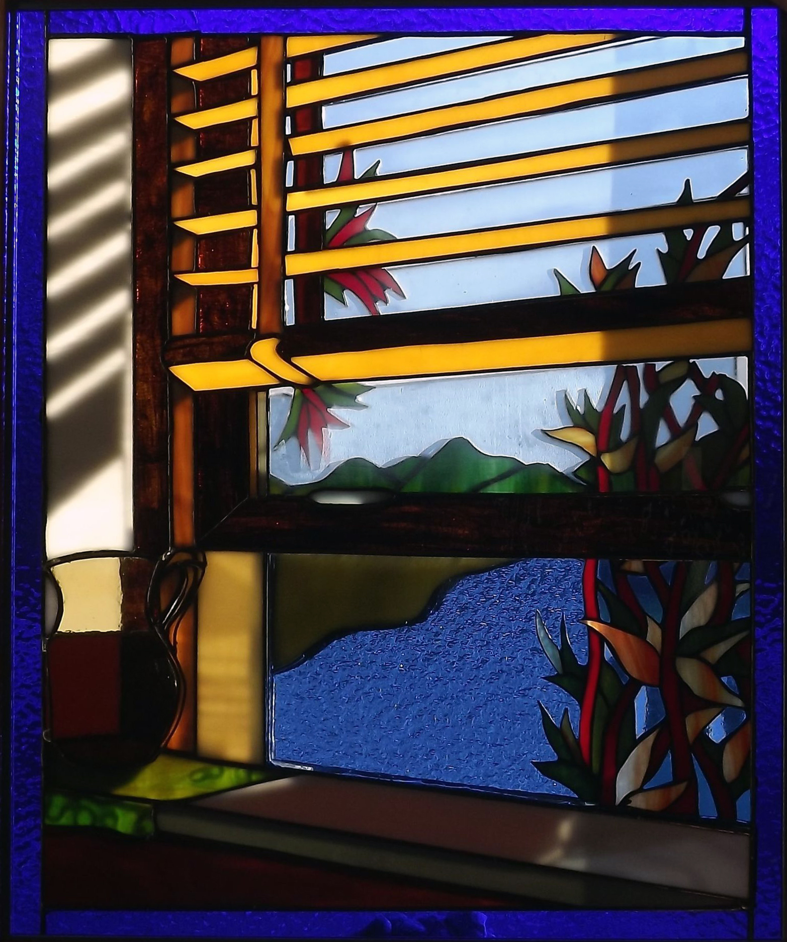 plated stained glass Barbara Shorty Watkins-pattern Barry Masser