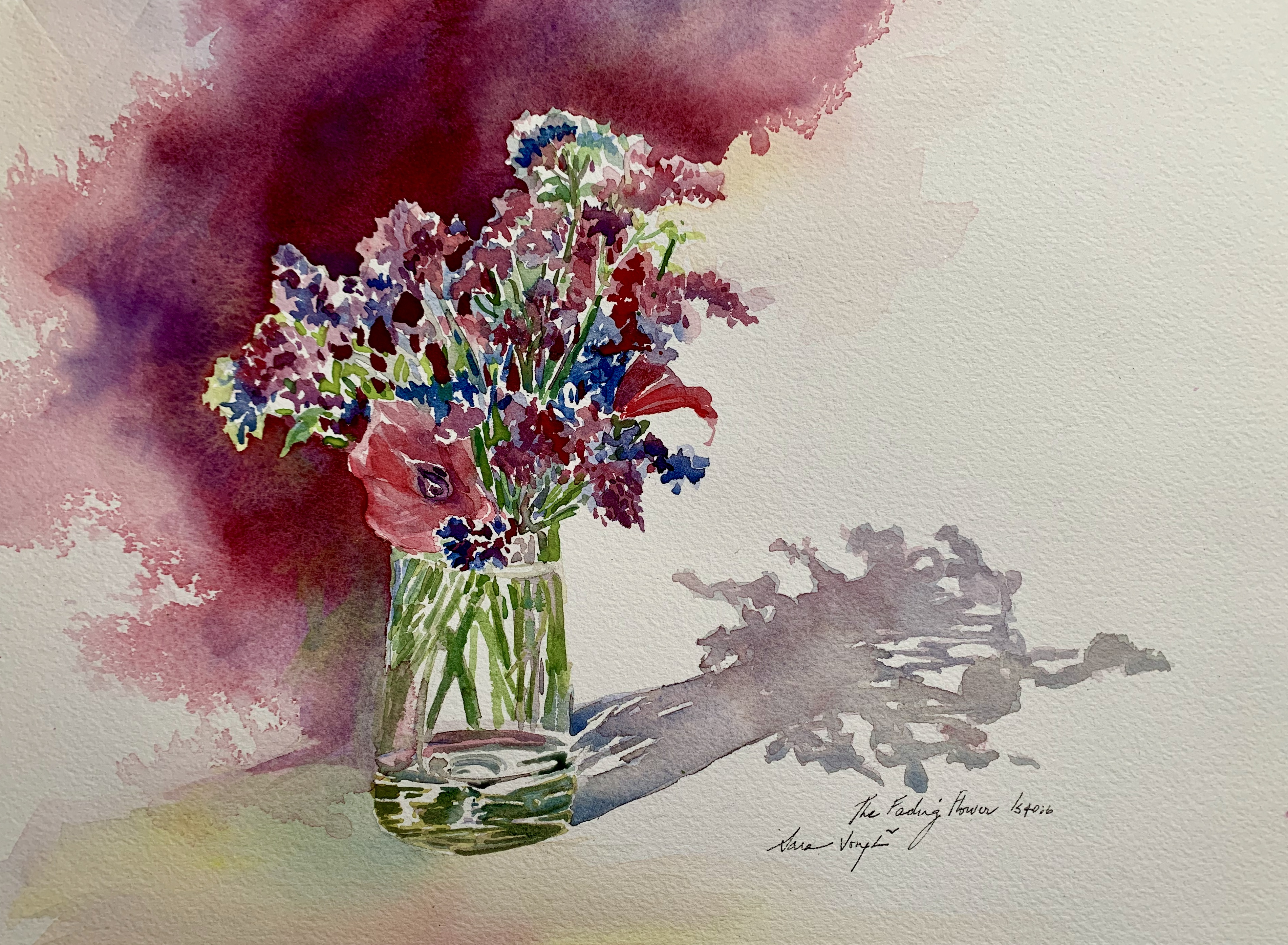 The Fading Flowers, Watercolor