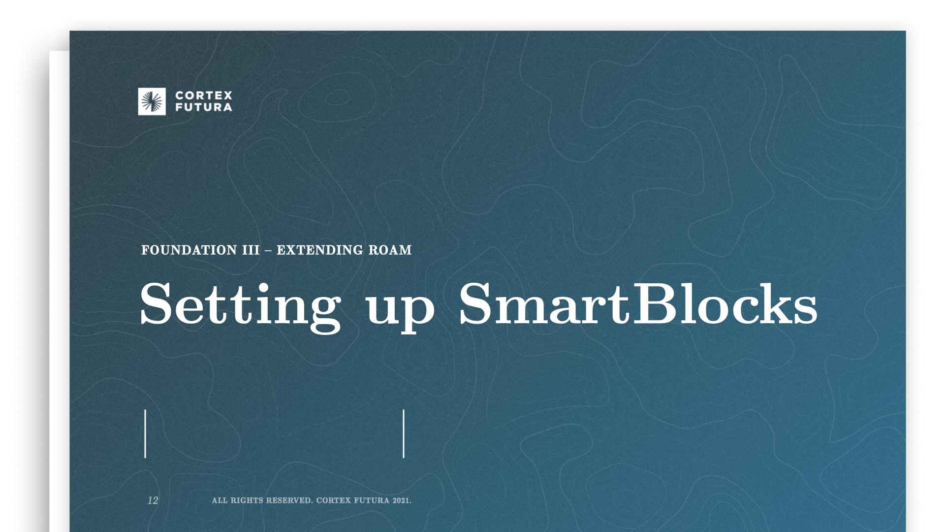 Setting up SmartBlocks