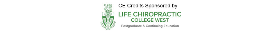 CE Credits Sponsored by Life Chiropractic College West
