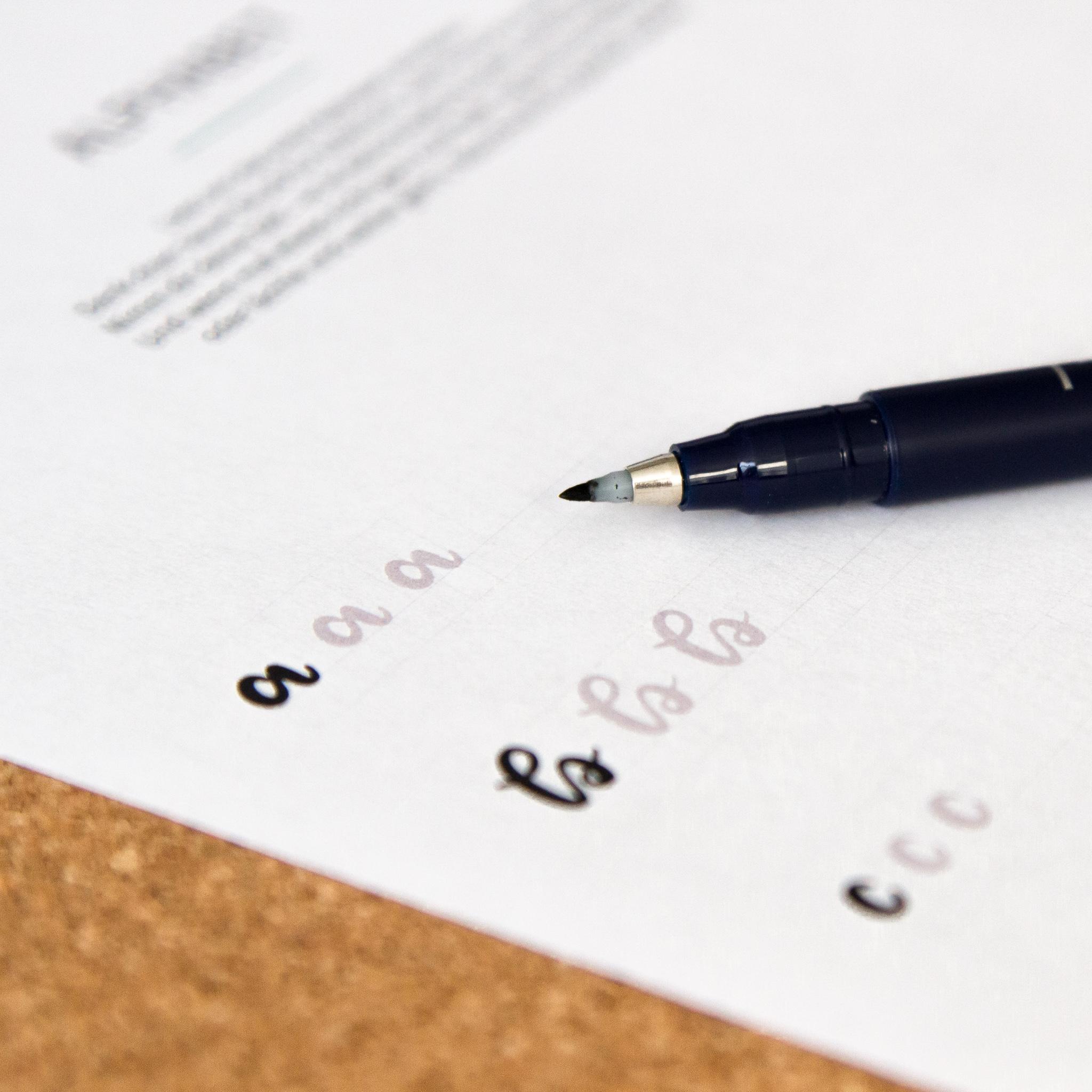 Übungsblatt: Buchstaben lettern