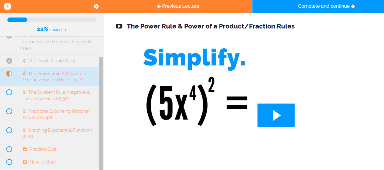 Exponent Rules Lesson with Examples