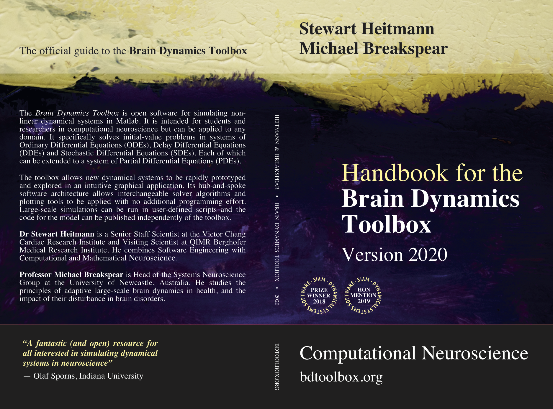 Handbook for the Brain Dynamics Toolbox BookCover
