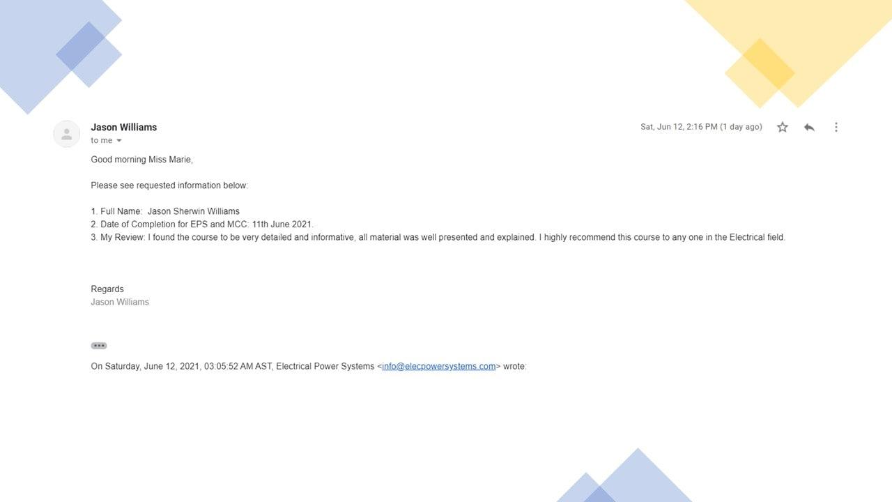 EPS Certificate
