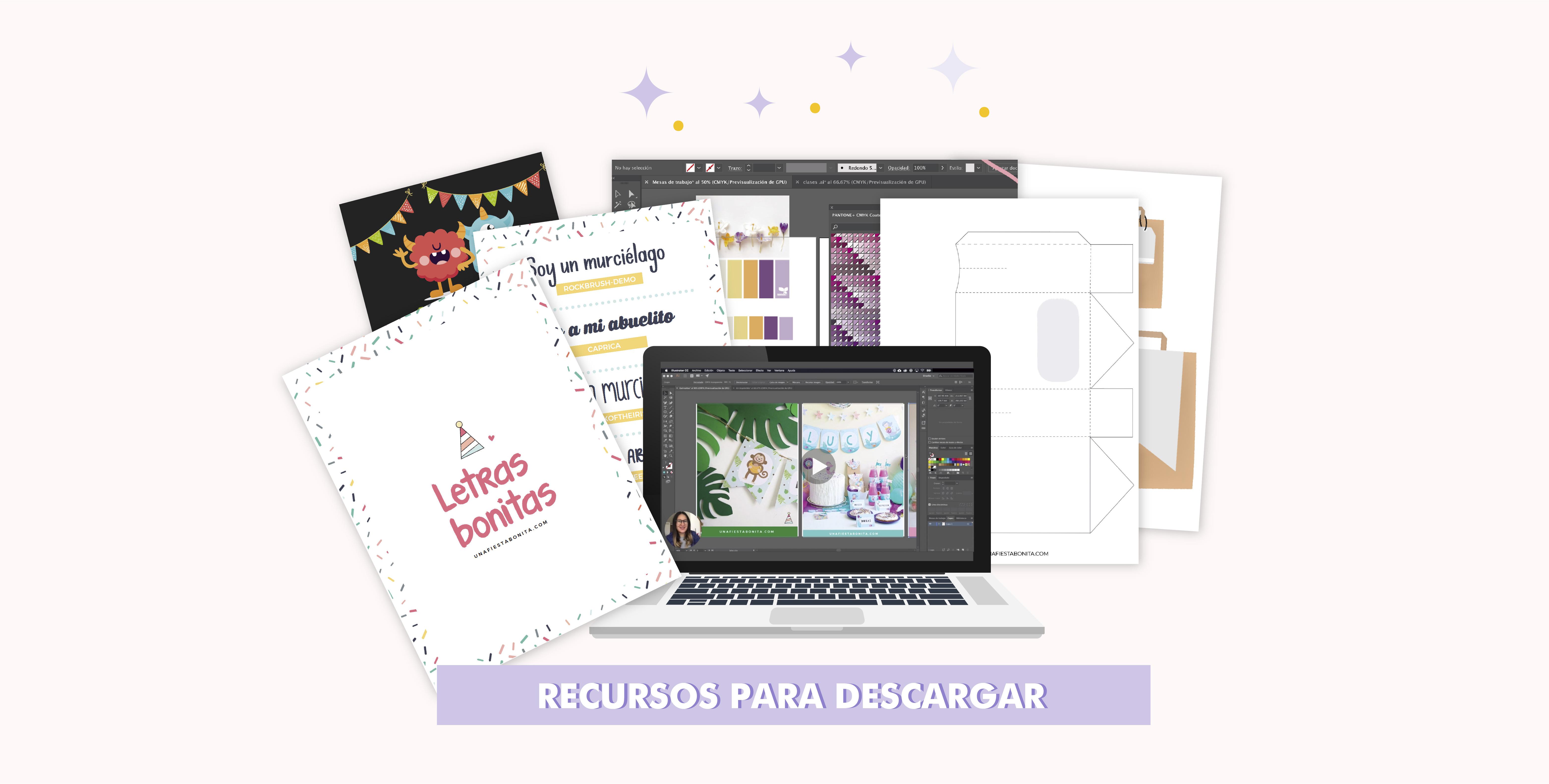 recursos para diseñar imprimibles para fiestas