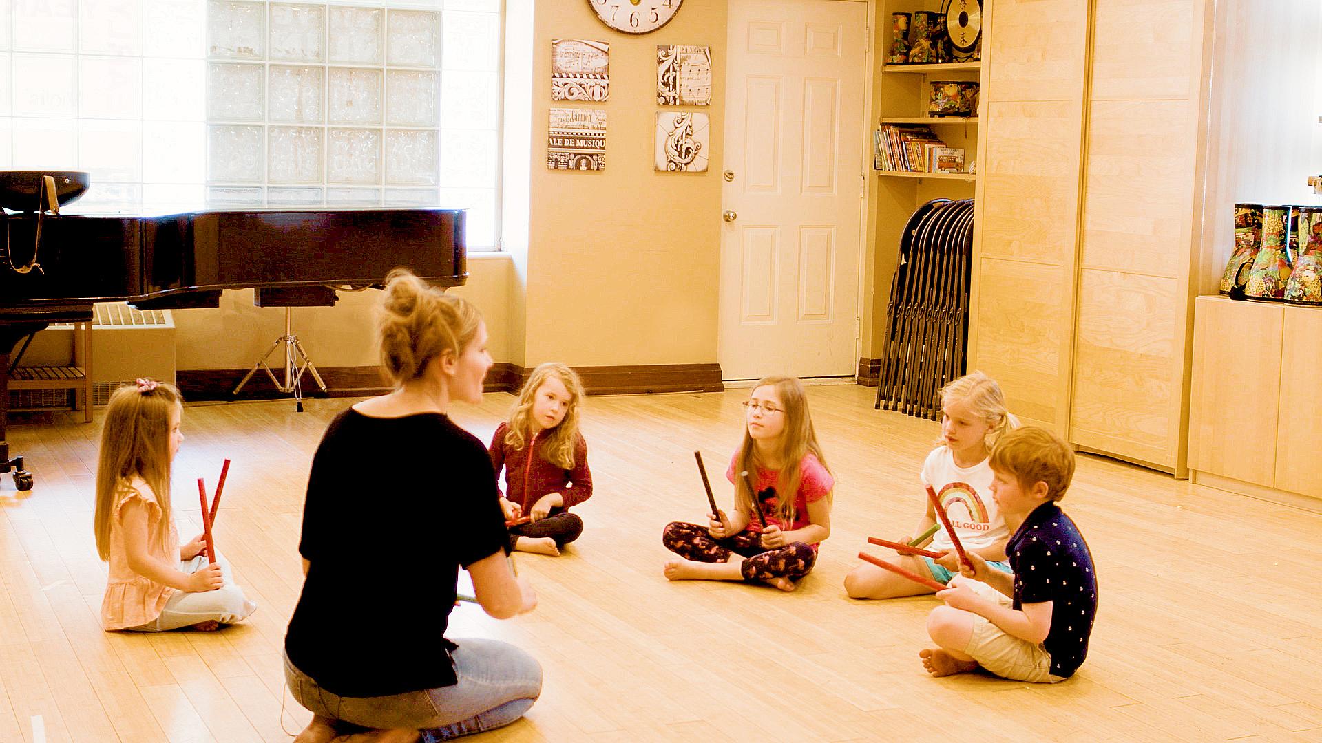 Music teachers explaining concepts