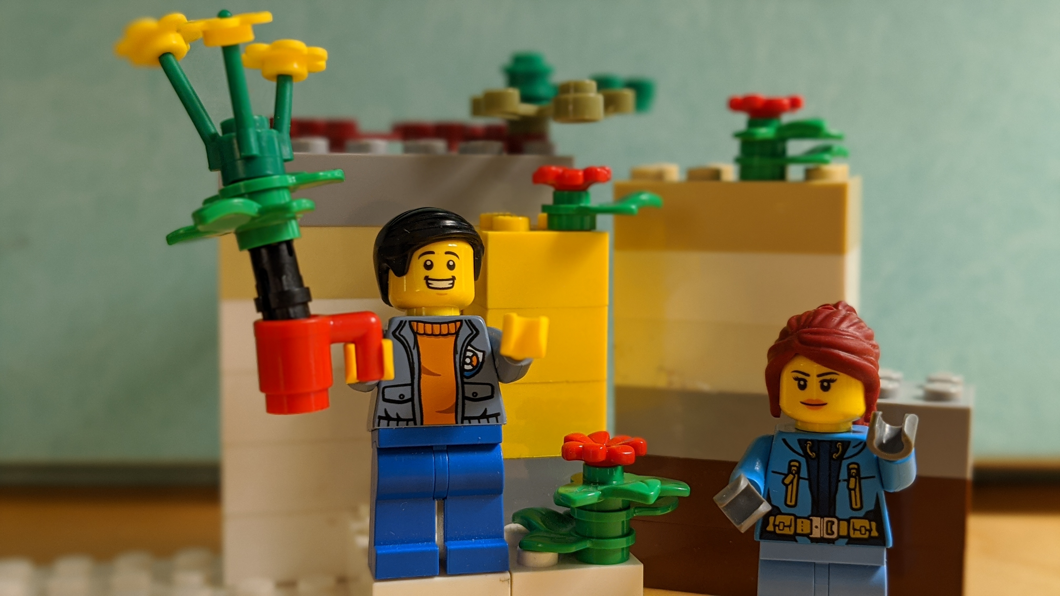 Lego Flowers Mug