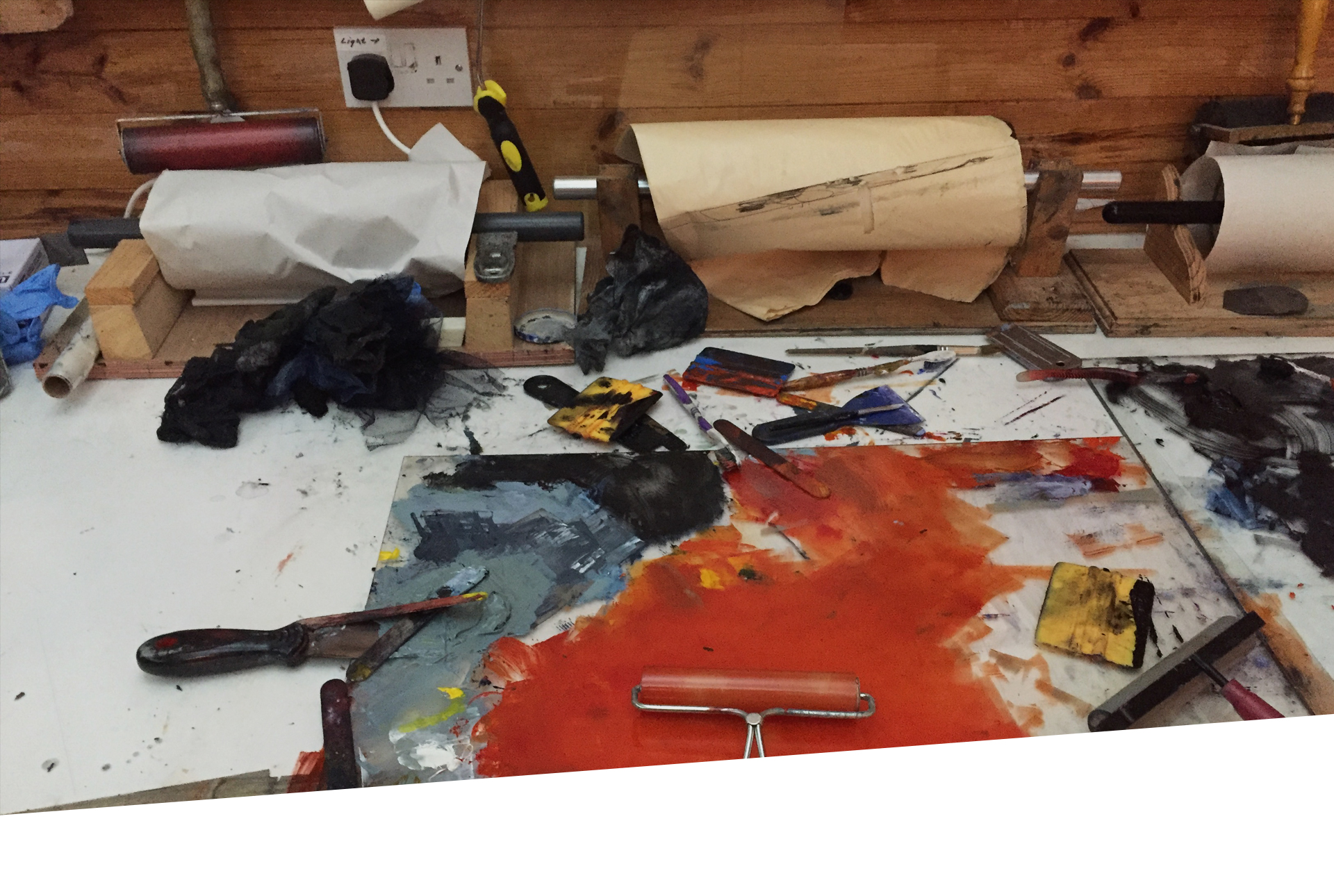 Discovery & Release: Mixed Media Printmaking Without a Press