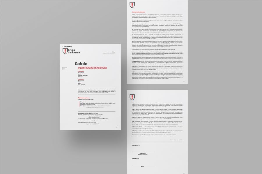 modelo de contrato de design