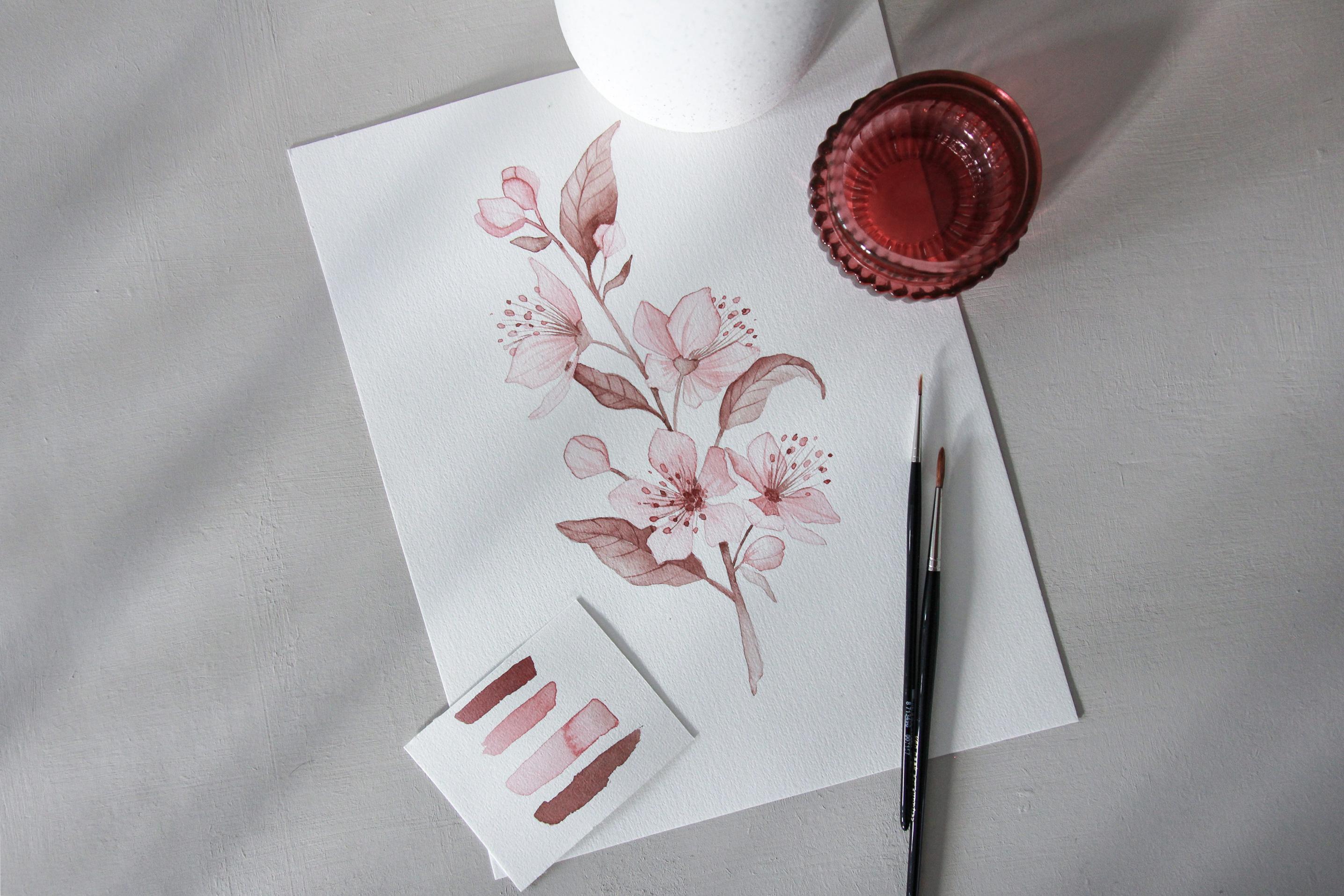 Spring Blossom watercolors - Bloom Creatives art classes