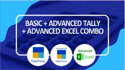 Basic + Advanced Tally Prime + Advanced Excel Part I