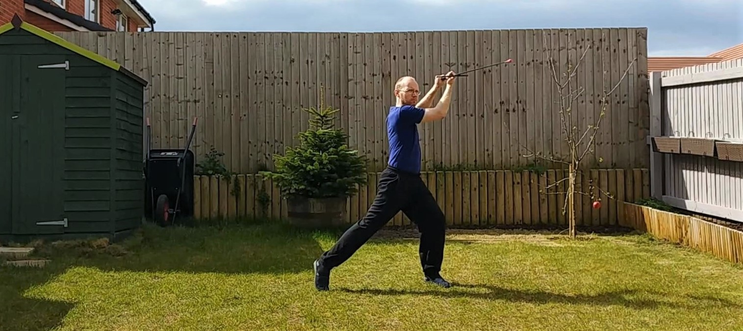 Longsword warming up and technical exercises