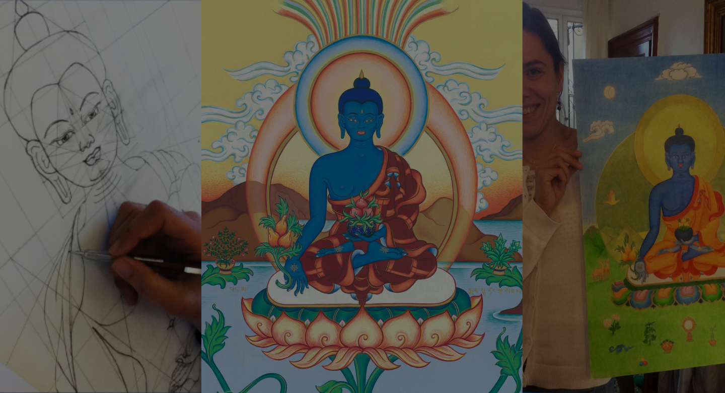 Medicine Buddha drawing and painting course