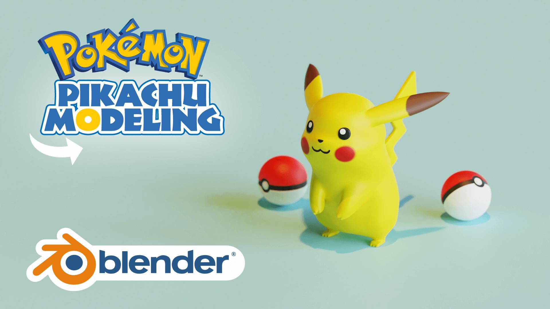 3D Pikachu Pokémon Modeling Blender Academy Course