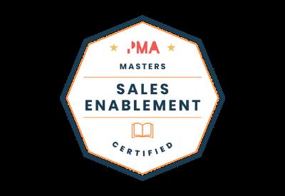 Sales enablement certified badge