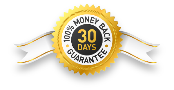 100% Money Back Guarantee for 30 Days Badge