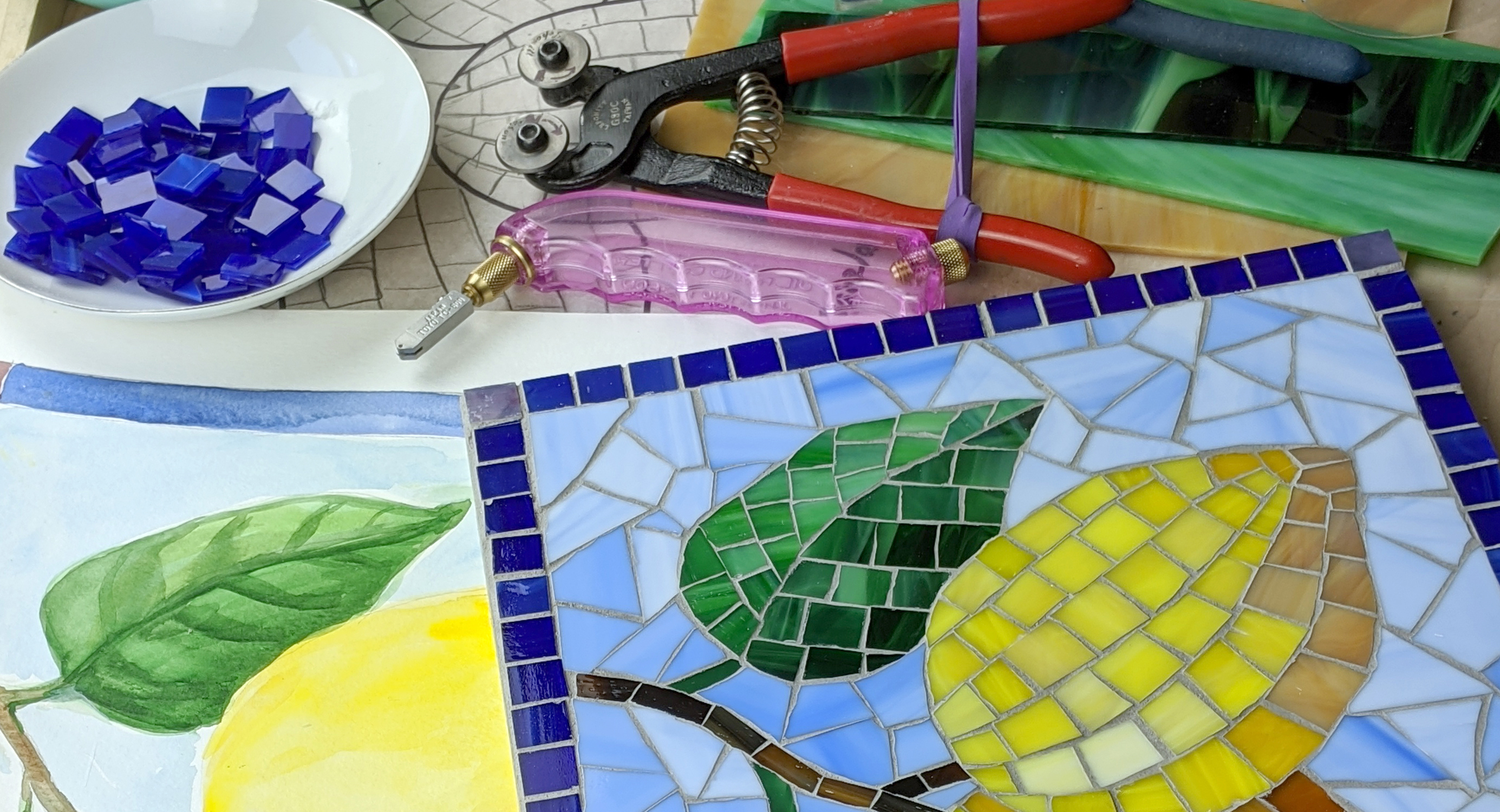 stained glass mosaics for beginners