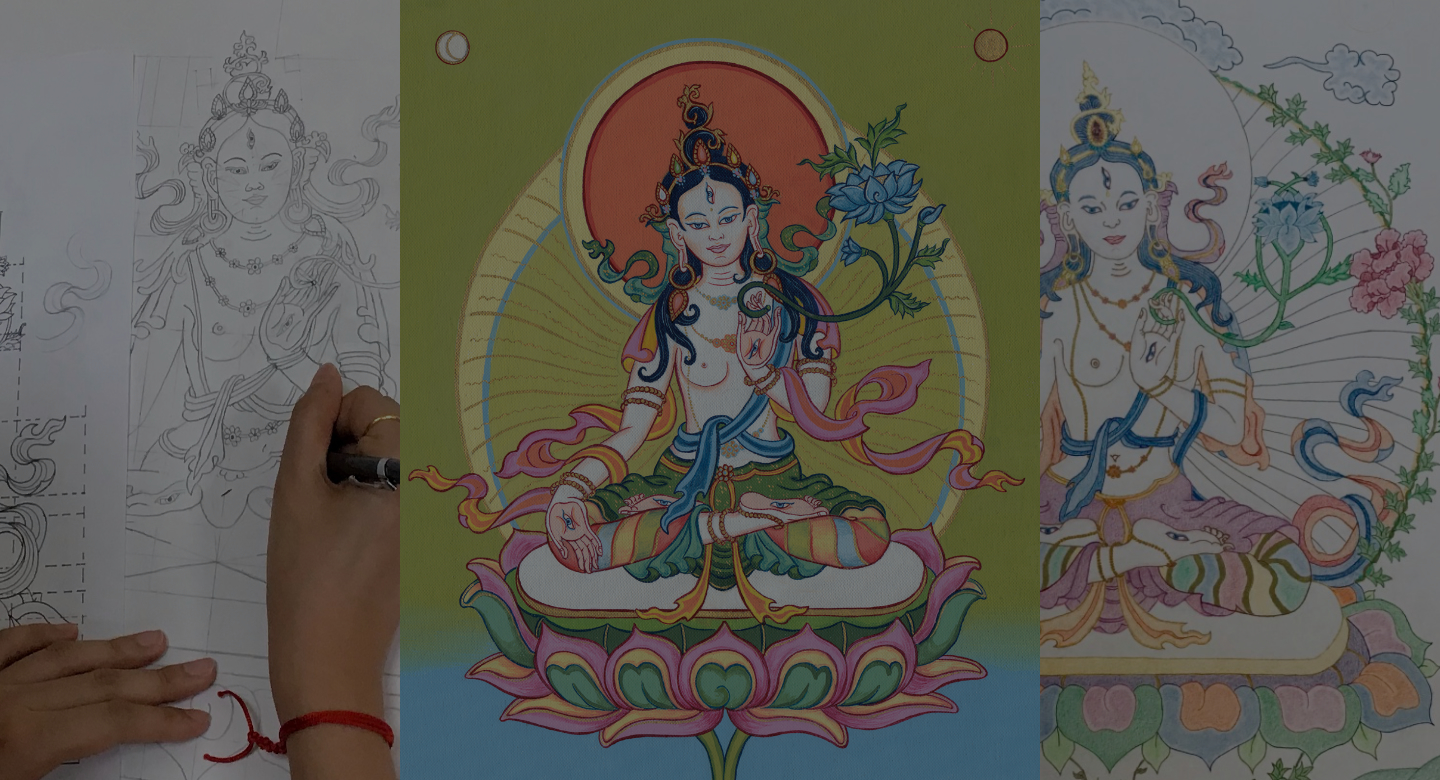 White Tara drawing and painting course