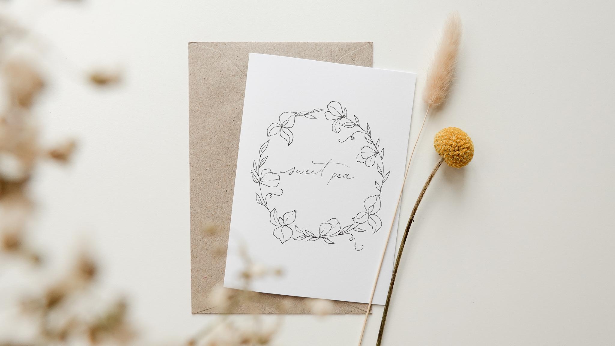 bloom creatives art classes Sweet Pea wreath