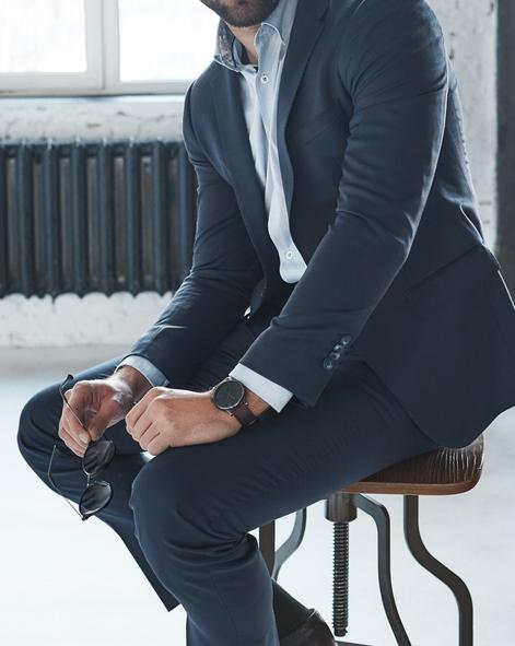 man sitting at chair