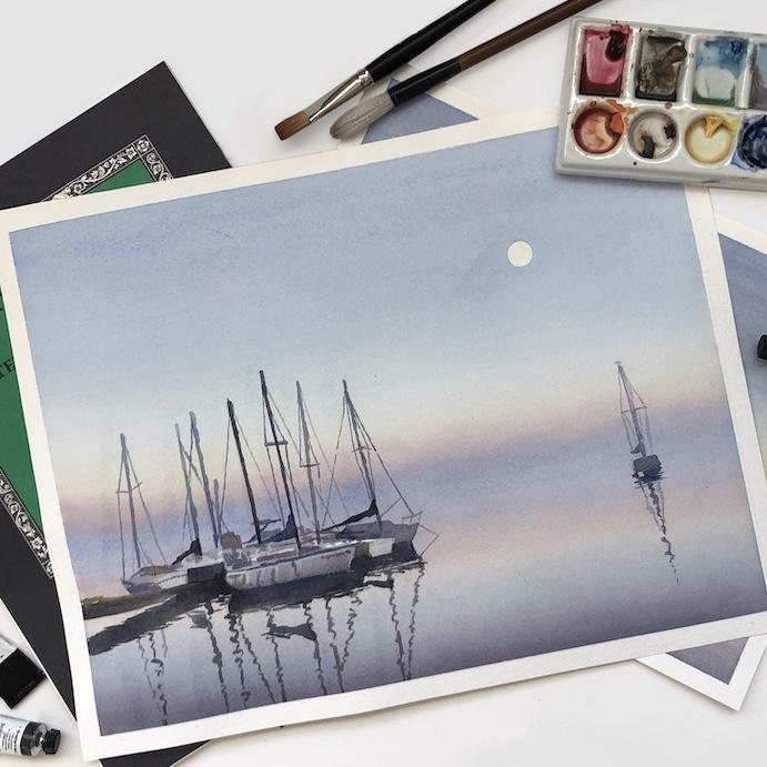 akvarellikurssi akvarellimaalaus värikartta