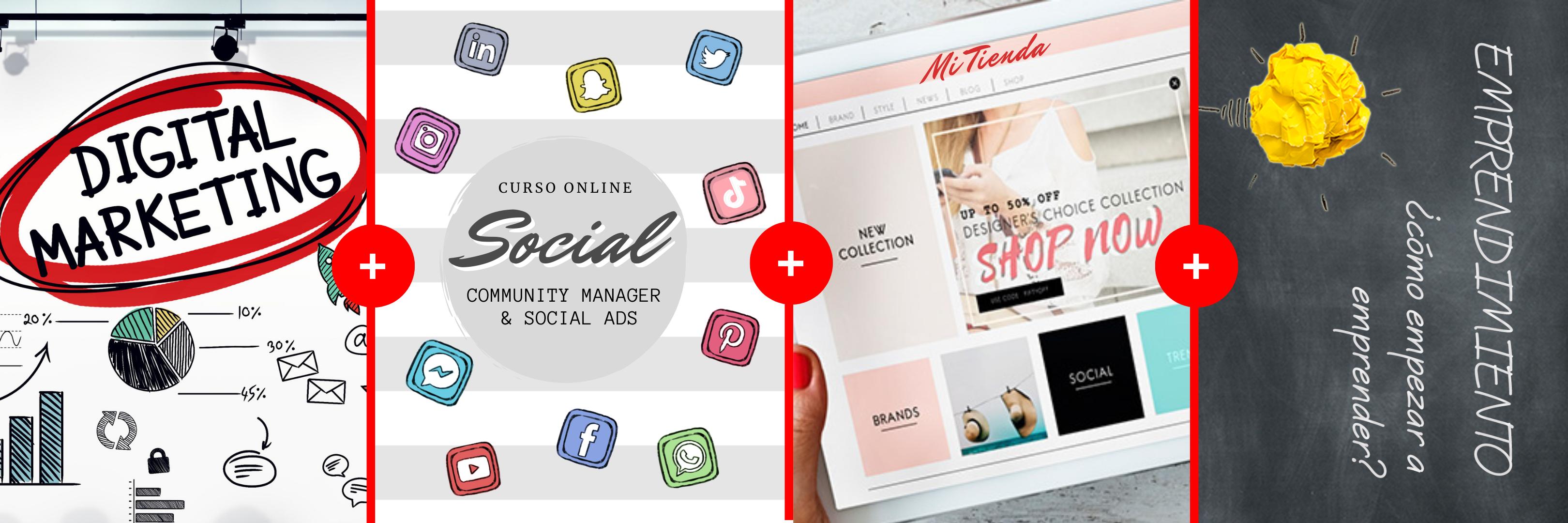 PACK x 3: Marketing Digital + Redes Sociales + eCommerce + Emprendimiento