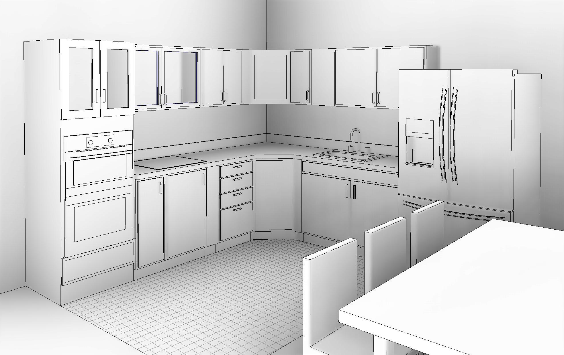 kitchen interior design in revit tutorial  balkan architect