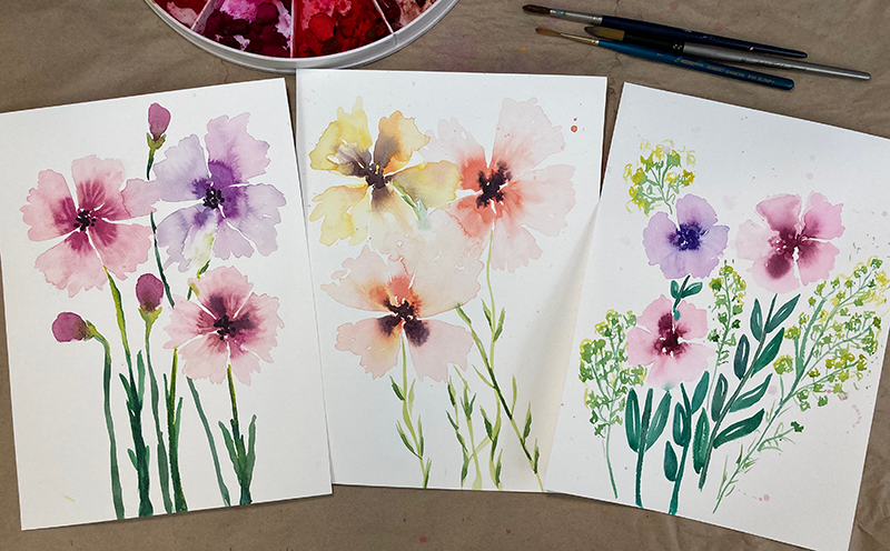 Day 4 - Easiest Watercolor Flower Painting Ever