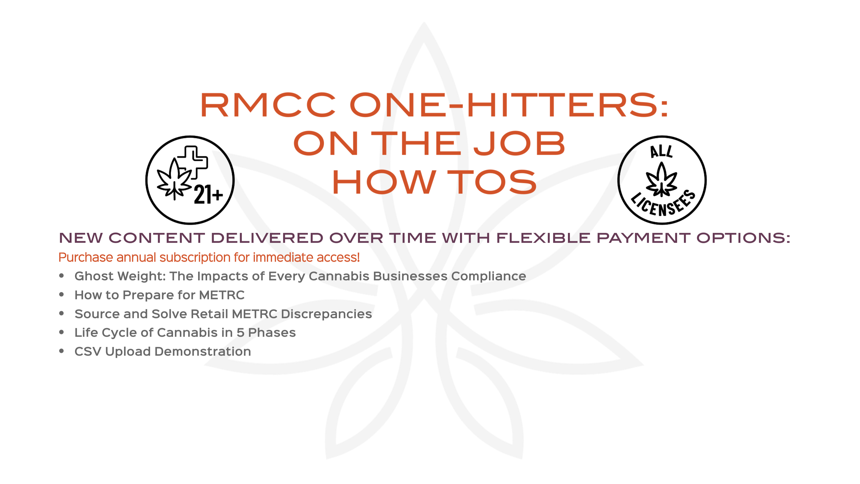 RMCC METRC tickets, METRC training, Oklahoma cannabis, Maine Cannabis, Oregon Cannabis, coronavirus, cannabis certification