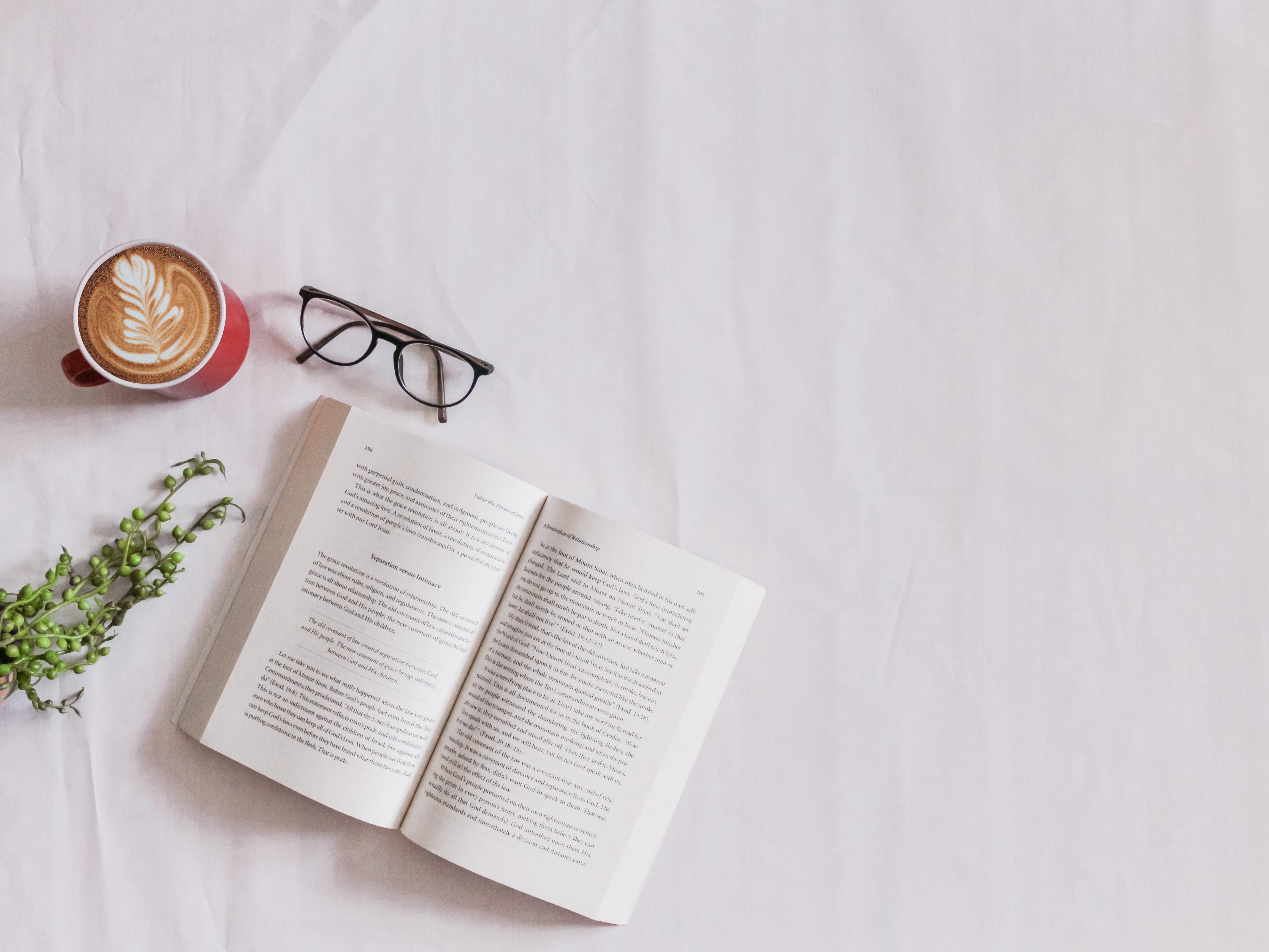 novel and coffee