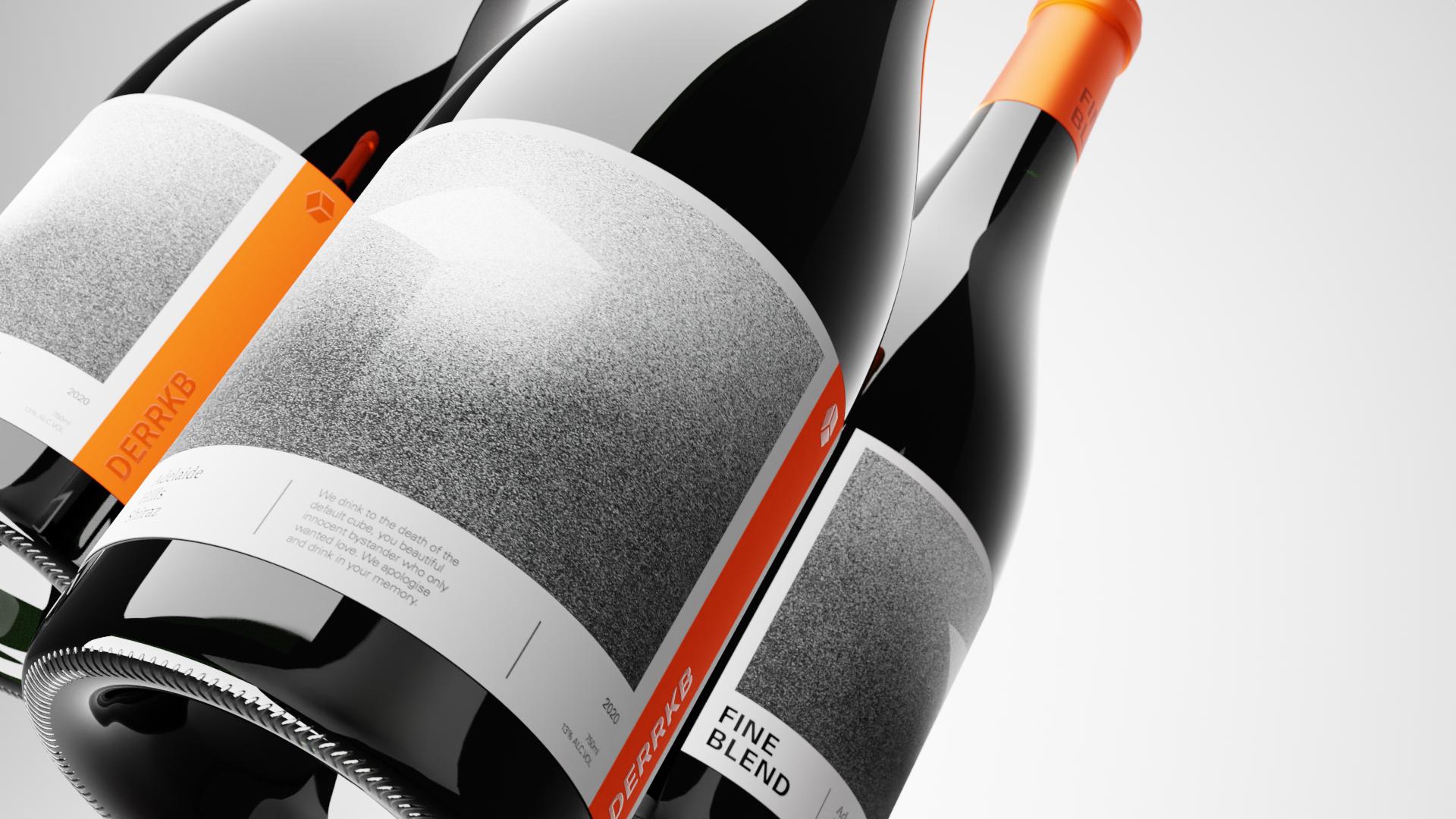 bottles of fine wine