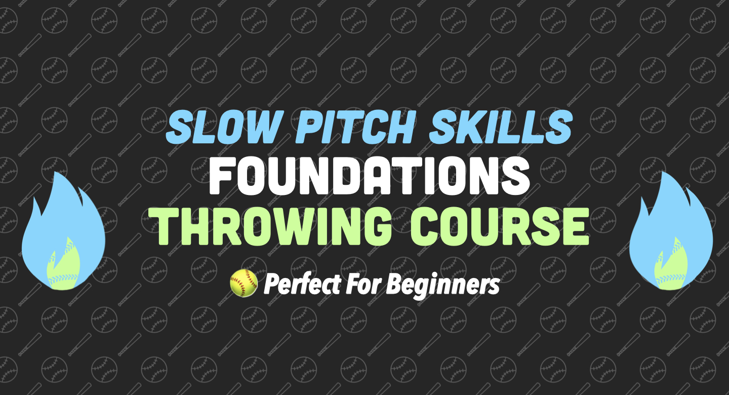 slow pitch softball throwing beginner course