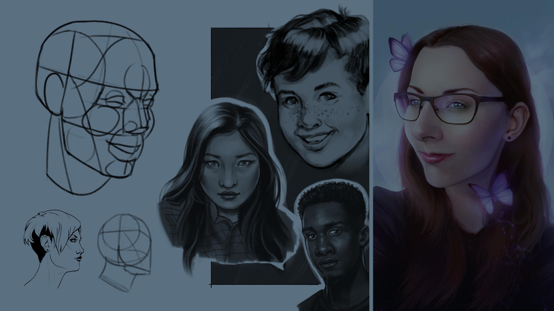 digital Porträts zeichnen lernen
