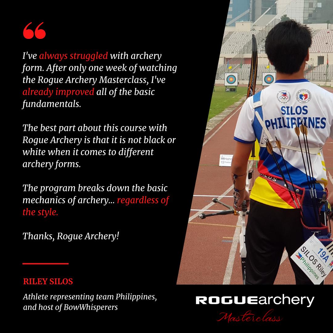 Riley Silos | Bow Whisperers | Recurve Archery Technique Fundamentals | Archery Coaching | Rogue Archery Masterclass | Olympic Archery | Online Coaching | Archery Form