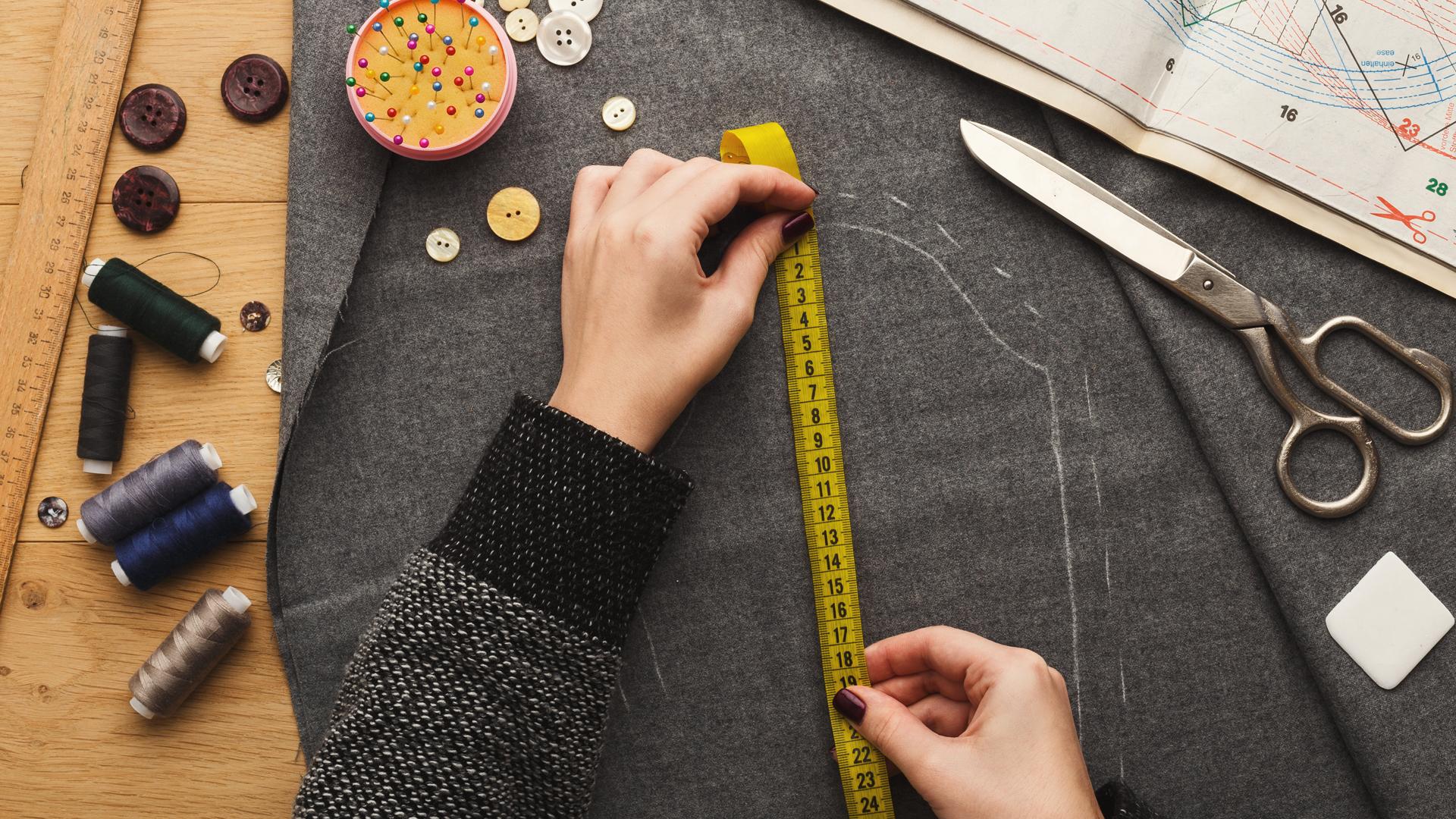 Pattern making in fashion designing