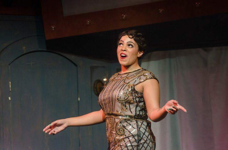 """Lily Jones performing the lead role of Sally Bowels in the Buffalo State Theater Department performance of """"Cabaret"""""""