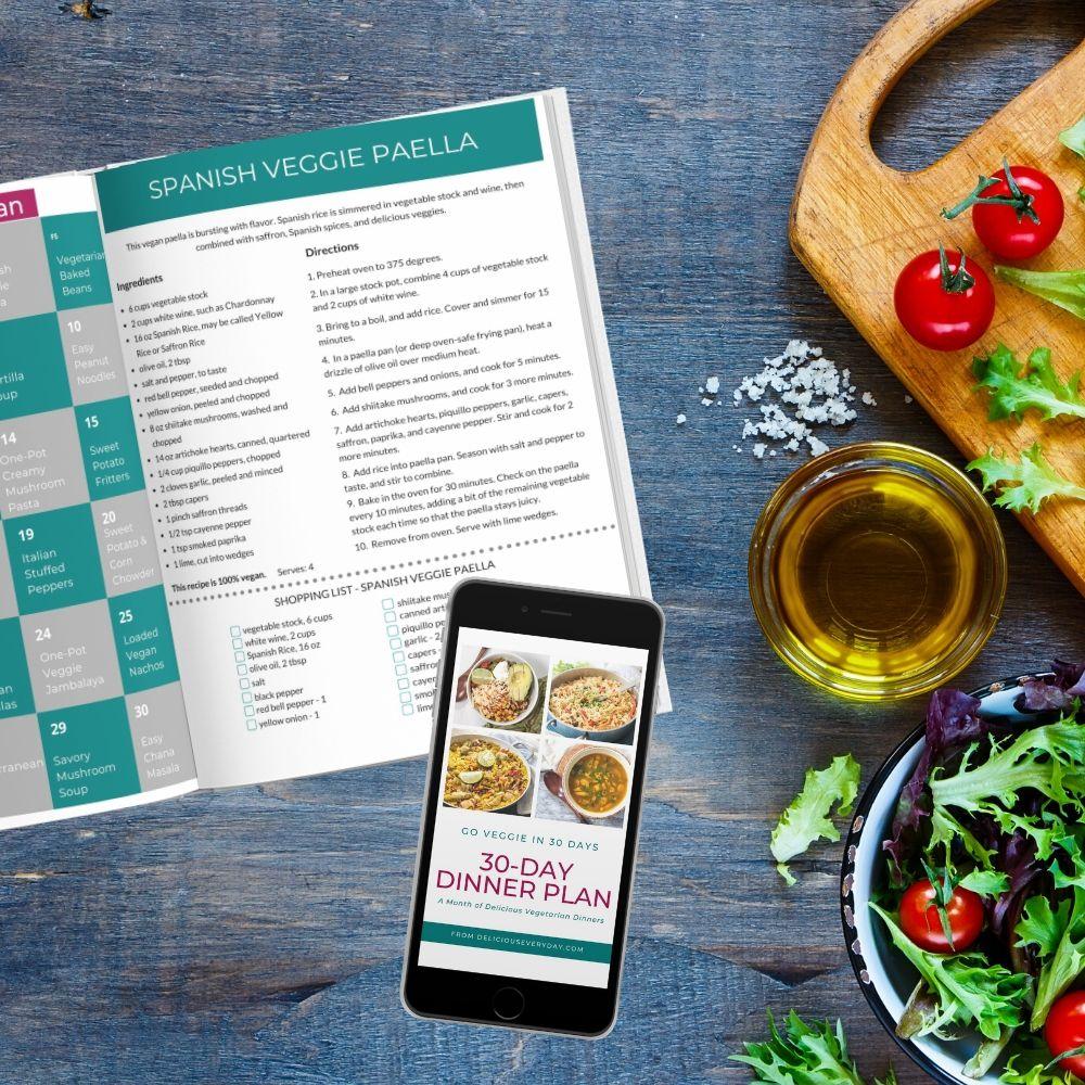 30 day vegetarian dinner plan