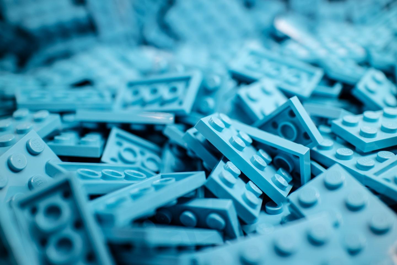 Blue lego bricks