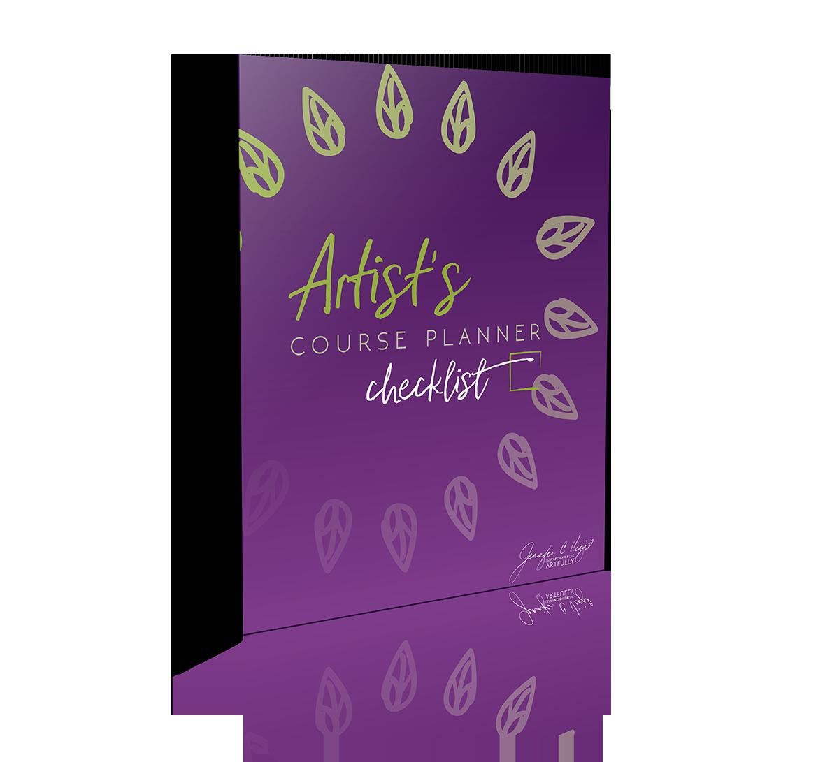 Artist Course Planner Checklist
