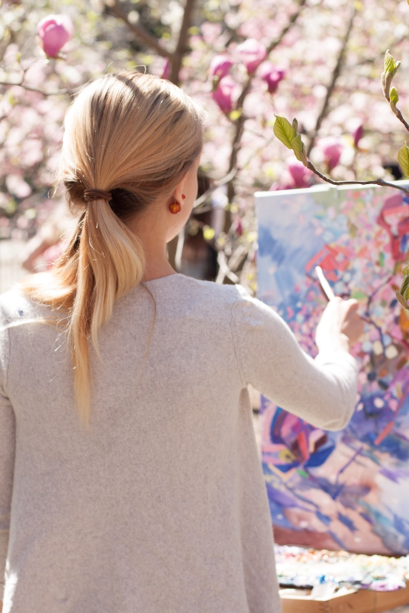 Abstrakti maisemamaalaus maalari