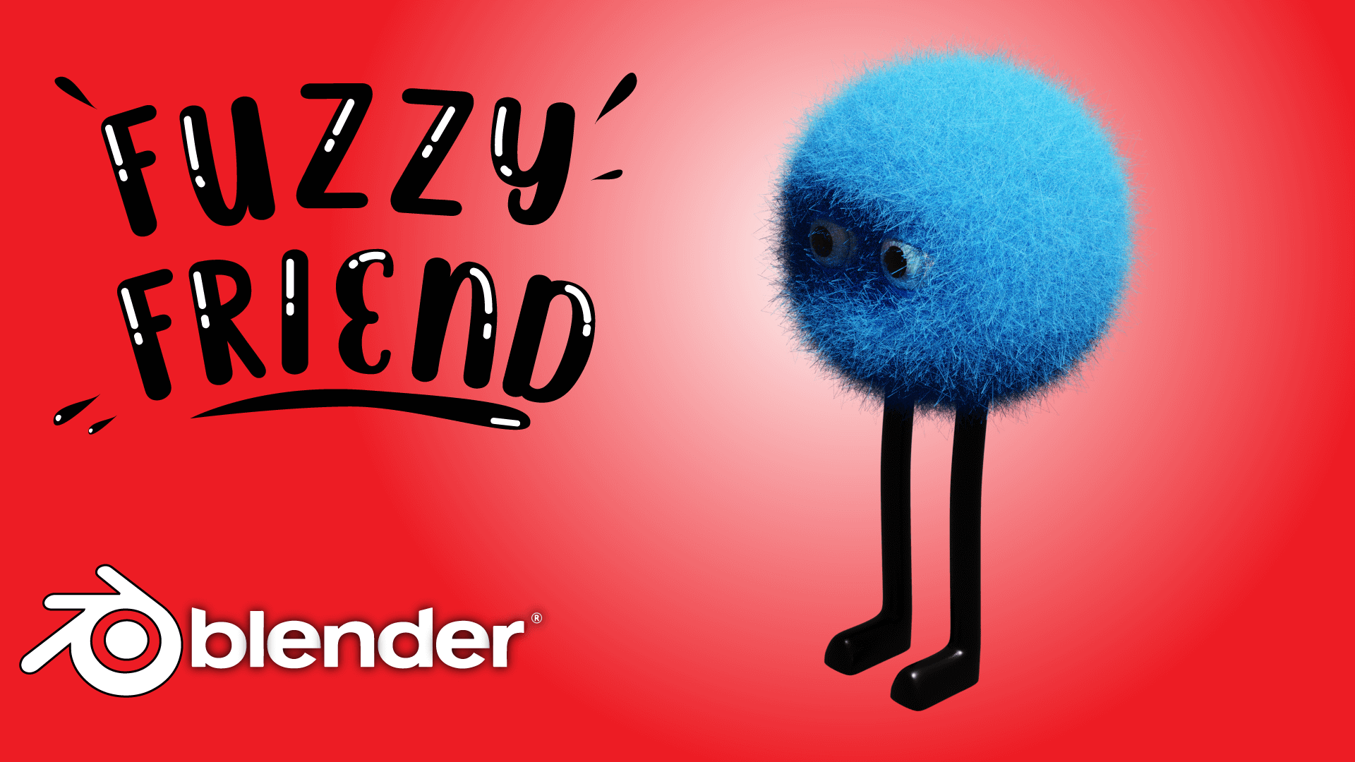 Fuzzy Character 3D Hair Particles Blender Course Academy