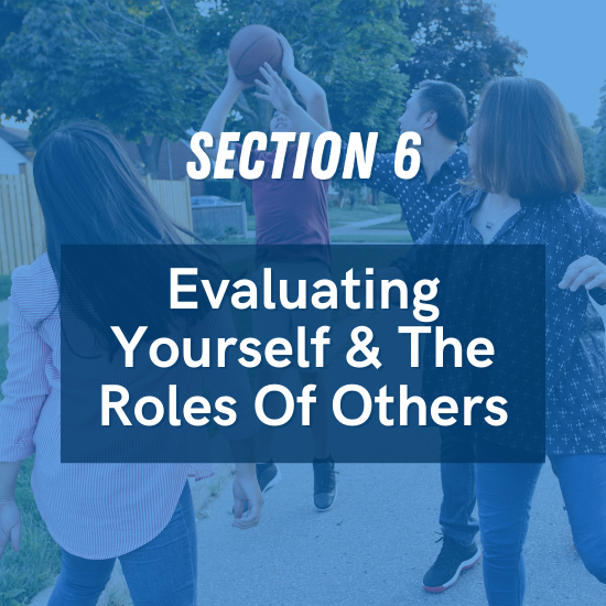 Section 6 - Evaluating Yourself & The Roles Of Others