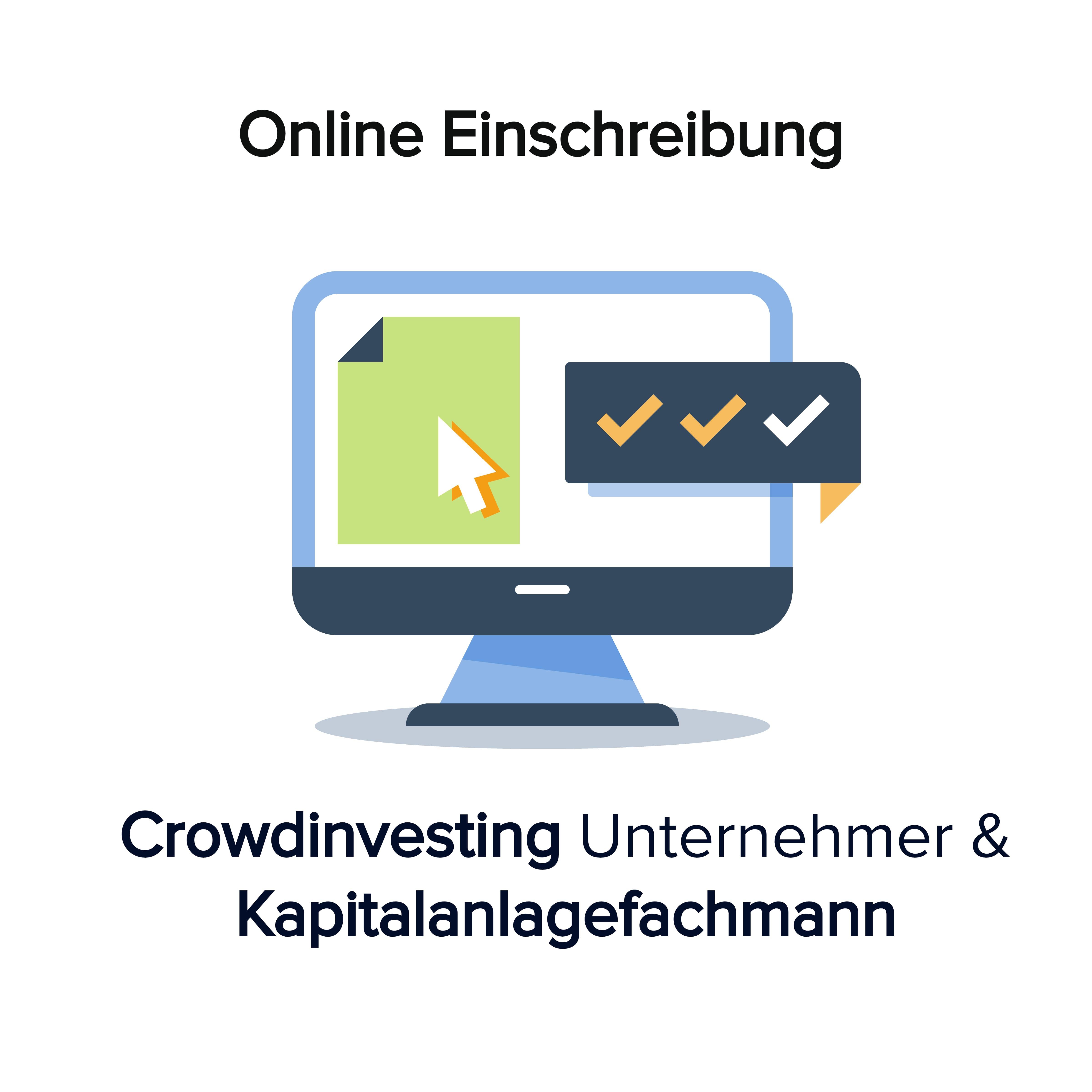 Online Kurs Einschreiben Crowdinvesting Kapitalanlagefachmann