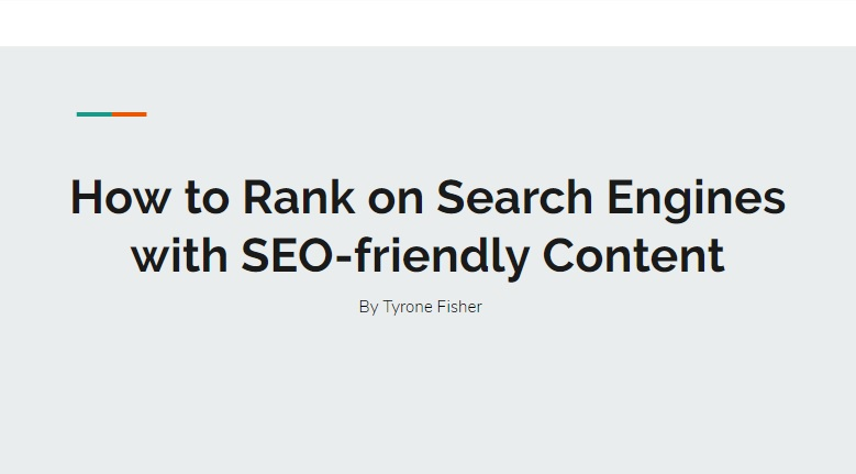 How to Rank on Search Engines with SEO-friendly Content