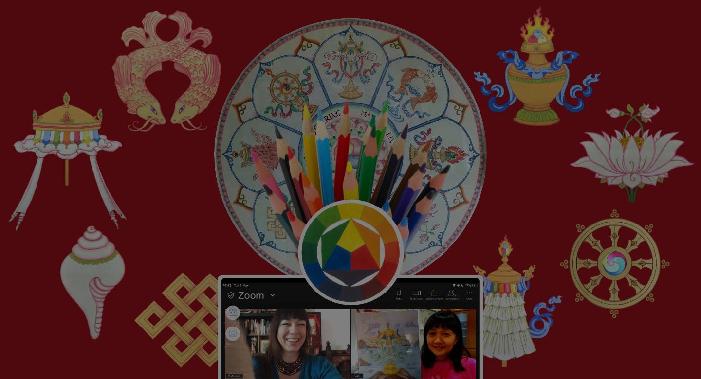 The 8 Auspicious Symbols Thangka Art Course