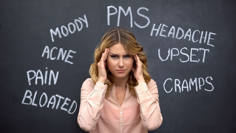 women with PMS symptoms